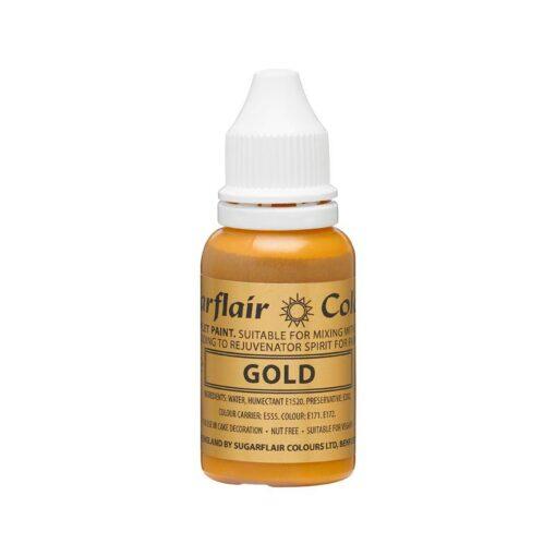 Colorant alimentar GOLD / Auriu-14 ml-Sugarflair