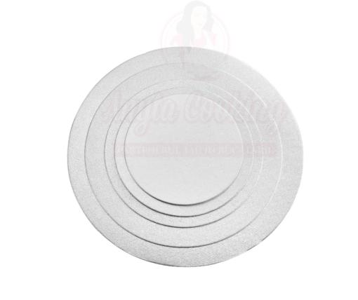 Disc tort rotund , argintiu -2mm grosime-Anyta Cooking