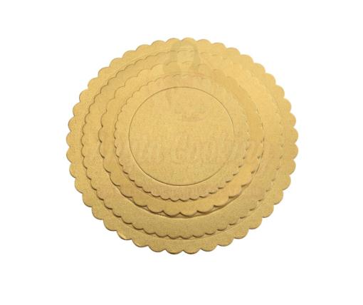 Disc tort rotund ondulat, auriu-2mm grosime-Anyta Cooking