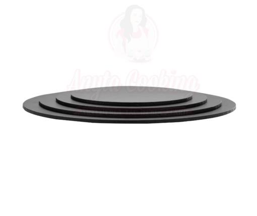 Discuri groase tort,rotunde,negru-5mm grosime-Anyta Cooking