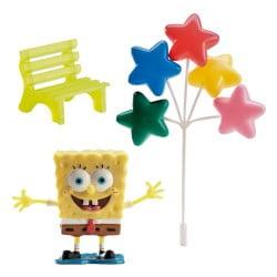 Set 3 buc Decoraține pentru tort – Sponge Bob, 7.5CM- Dekora