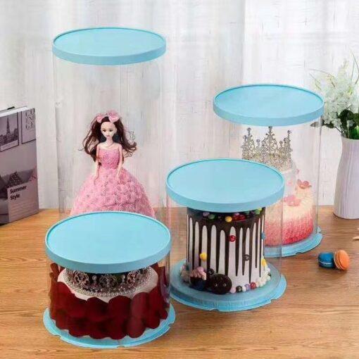 cutii tort rotunde transparente