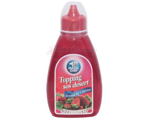 Topping cu aroma de capsuni - 420 g - Magic Chef