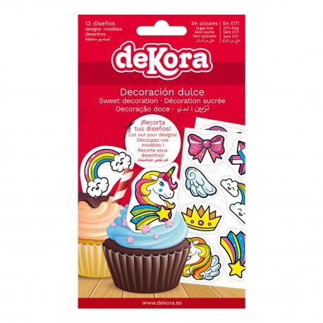 Set 13buc Decorațiune comestibilă fără zahăr-Unicorn-Dekora