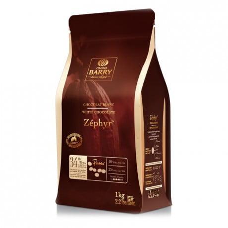 Ciocolata Alba PREMIUM ZEPHYR - 34 % - 1 Kg - Cacao Barry®