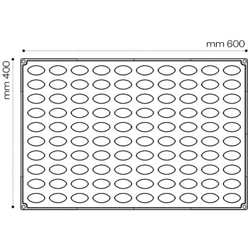 Forma Silicon 3D Monoportii -6.6x3.5xh2.6cm, 49 cavitati- Pavoni