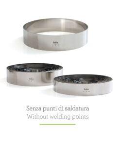 Form de cerc din oțel inoxidabil -Ø 30 X H 6 CM -Decora