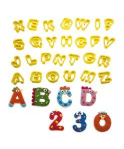 Set 36 buc Decupatoare litere si cifre-2 x 1,6 h cm-Decora