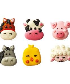 Set 6 buc Decoratiune zahar-Animale de ferma-4 cm-Decora