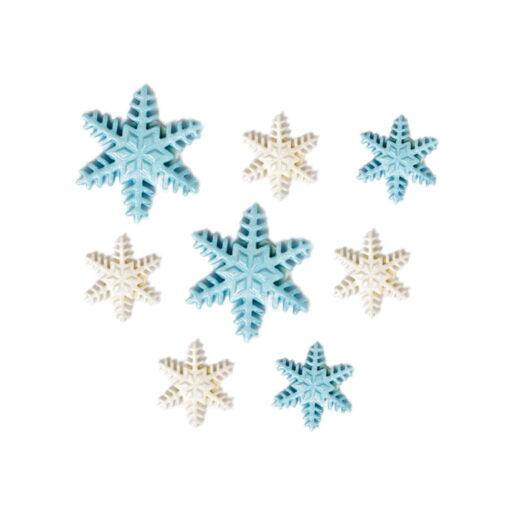 Set 9 buc Decoratiune din zahar-Cristale de gheata-2,5 - 4 cm-Decora