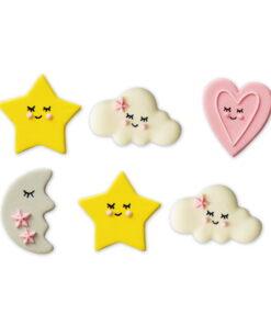 Set 6 buc Decoratiune zahar-Baby Girl-3,5 cm-Decora