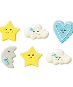 Set 6 buc Decoratiune din zahar-Baby Boy-3,5 cm-Decora