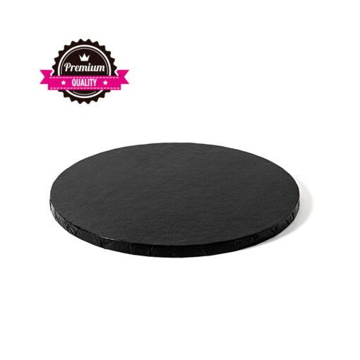 Caker Drum rotund-Negru-Ø 30- 1.2 cm grosime -Decora