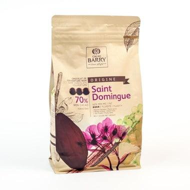 Ciocolată neagră PREMIUM - SANTO DOMINGO - cacao 72% - 1kg - Cacao Barry®