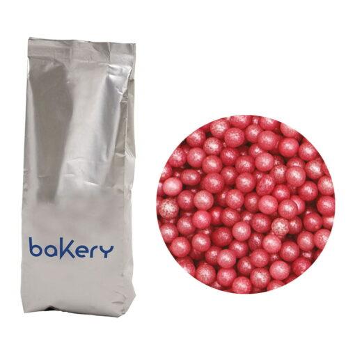 Perle din zahar -Roz sidefat-1 kg-Decora