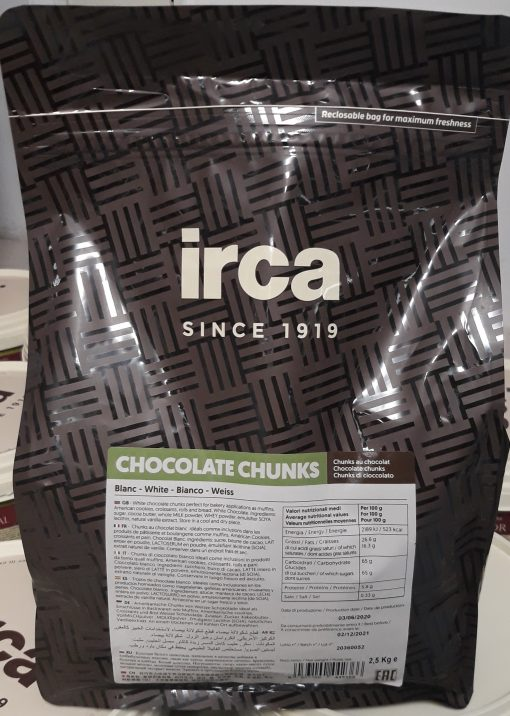Ciocolată ALBĂ TERMOSTABILA bucati- 2,5 kg - Irca