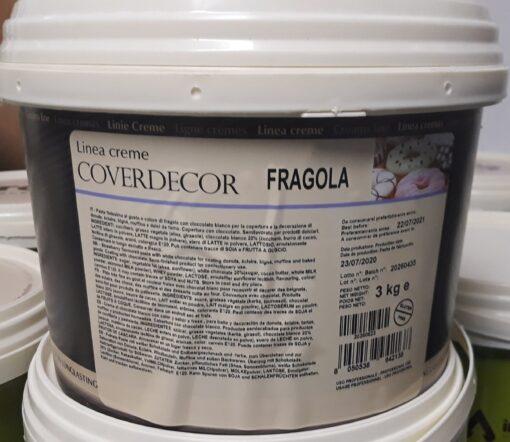 Coverdecor de ciocolată pentru acoperire cu aromă de CĂPȘUNI - 3 kg - Irca