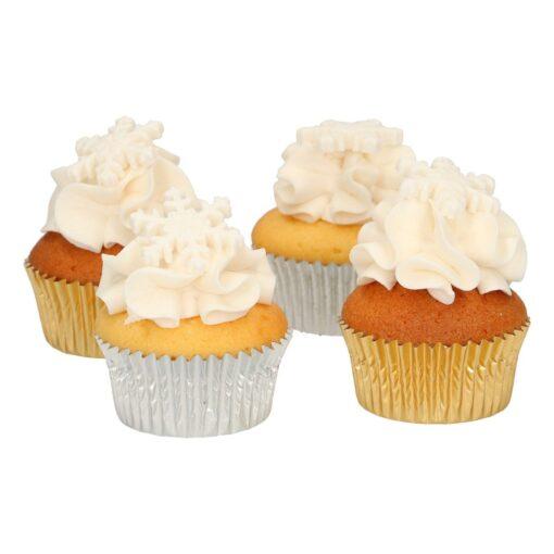 Set 8 buc decor comestibil din zahar-Stelute Albe-Funcakes