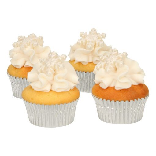 Set 6 buc decor comestibil din zahar-Stelute Argintii-Funcakes