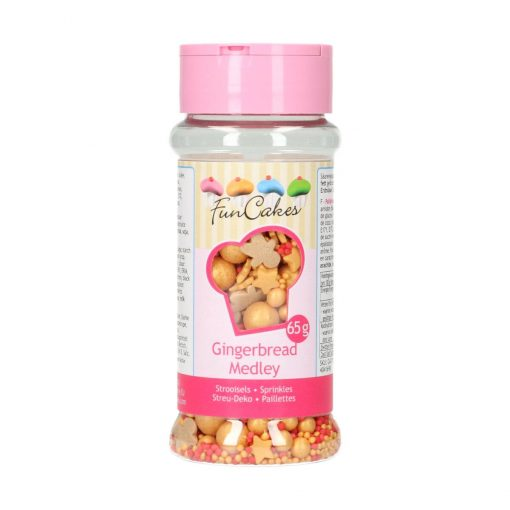 Mix mini confetti-SPRINKLE MEDLEY-TURTĂ DULCE-65G-Funcakes