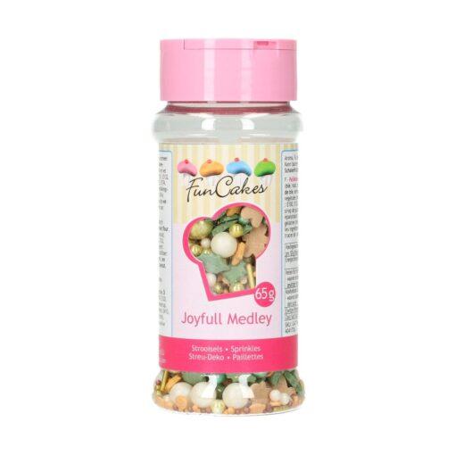 Mix mini confetti-SPRINKLE MEDLEY-JOYFULL- 65G-Funcakes