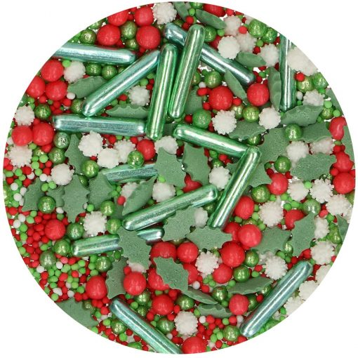 Mix mini confetti-SPRINKLE MEDLEY-HOLIDAY- 65G-Funcakes
