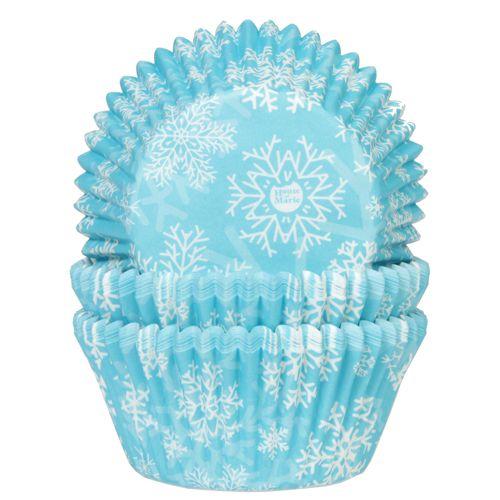 Set 50 buc Forme de copt briose-Snow Cristal Blue-House of Marie