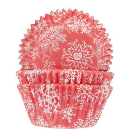 Set 50 buc Forme de copt briose-Snow Cristal Red-House of Marie