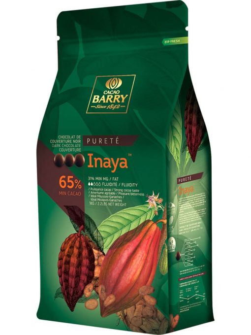 Ciocolată neagră PREMIUM - INAYA - cacao 65% - 1kg - Cacao Barry®