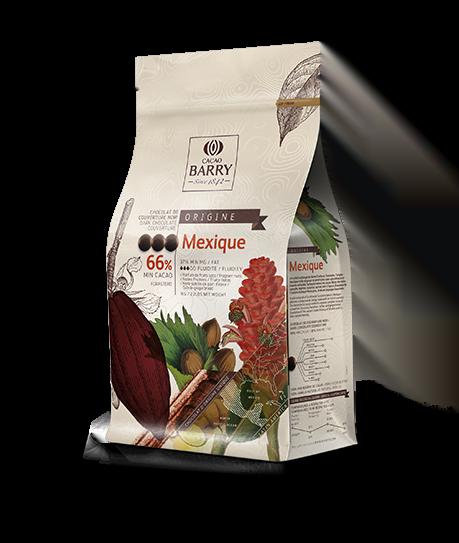 Ciocolată neagră PREMIUM - MEXIC - cacao 66,1% - 1kg - Cacao Barry®