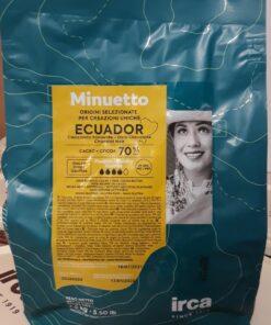Ciocolată NEAGRĂ ECUADOR Dropsuri - 70% Cacao - 2,5 kg - Irca