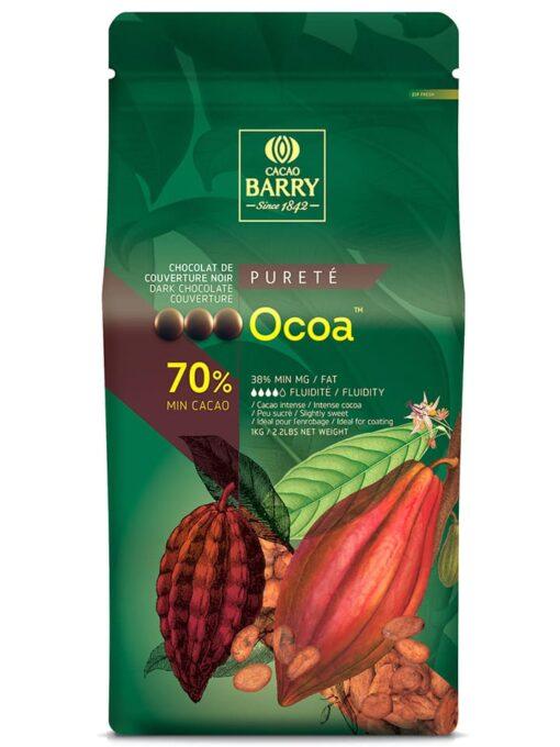 Ciocolată neagră PREMIUM - OCOA - cacao 70,4% - 1kg - Cacao Barry®