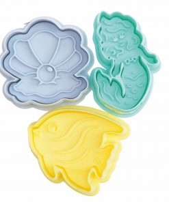Set 4 buc de Decupatoare din plastic - Sirena-Scrapcooking