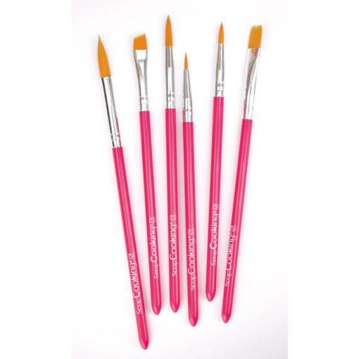 Set 6 buc pensule alimentare-16,5 x 0,6 cm-Scrapcooking