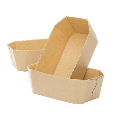 Hârtiede celuloză, naturală pentru copt-15,3 x 8,8 x 6 h cm – 300 g - Decora