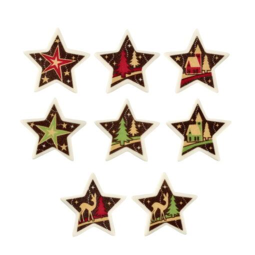 Set 48 decor din zahar , stele de craciun 44X46MM - DeKora