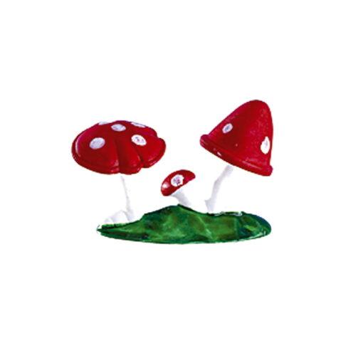 Decor din plastic , Ciuperci - 4x2x1 cm - DeKora