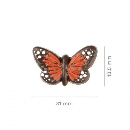 Set 90 Fluturi din Ciocolata -Rosu-18,5X30MM- DeKora