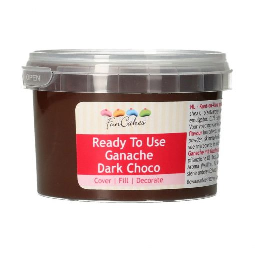 Ganache Ciocolata Neagra gata de utilizare-260 gr-Funcakes