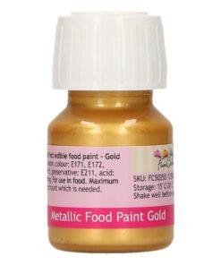 Colorant alimentar culoare AURIU METALIZAT-30 ml- Funcakes