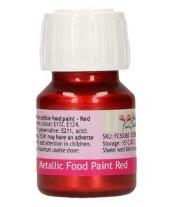 Colorant alimentar culoare ROSU METALIZAT-30 ml- Funcakes