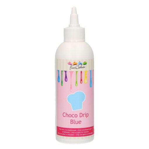 Glazura de ciocolata -Choco Drip Blue-180 gr-Funcakes