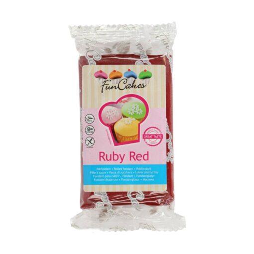 Fondant culoare ROSU INTENS-250 gr-Funcakes