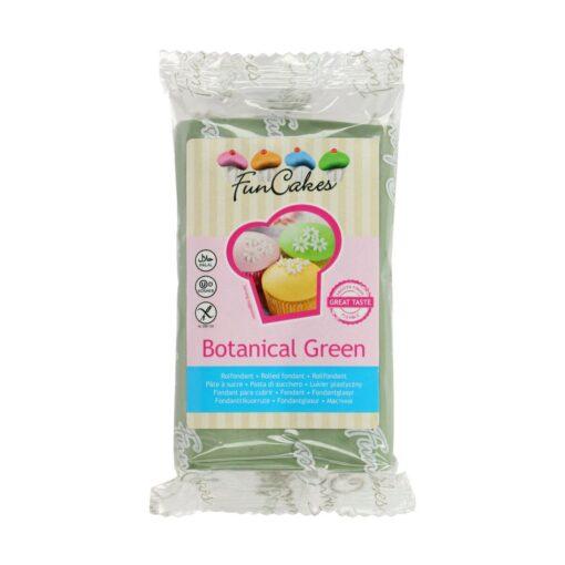Fondant culoare BOTANICAL GREEN-250 gr-Funcakes