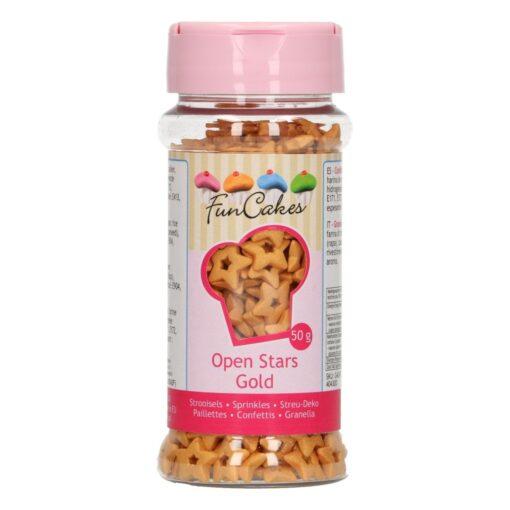 Decor din zahar-STELUTE AURII-50 gr-Funcakes