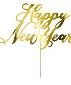 Topper pentru tort-HAPPY NEW YEAR-Party Deco