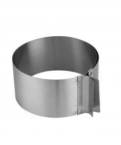 Inel Reglabil Rotund din inox, 16-30ØCM - 8cm inalt - Anyta Cooking