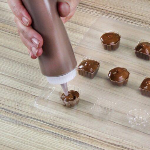 Set 2 buc flacon din plastic pentru topit ciocolata - PME