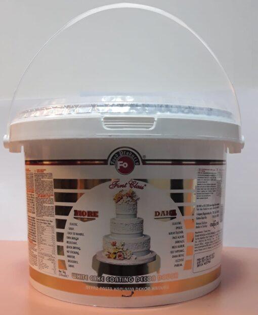 Pastă de zahăr - 5kg - FODEKOR - ICING-FIRSTC CLASS-ALB