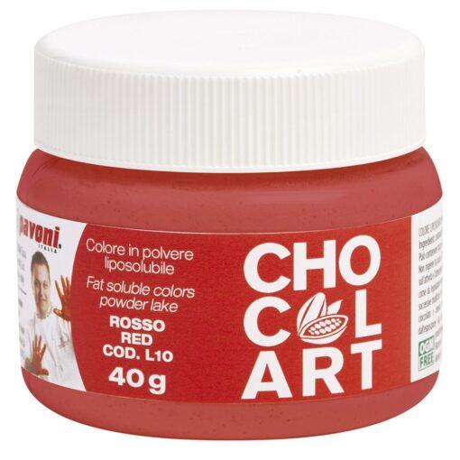 Colorant Alimentar Pudra Liposolubil CHOCOLART, Rosu, 40 gr - Pavoni